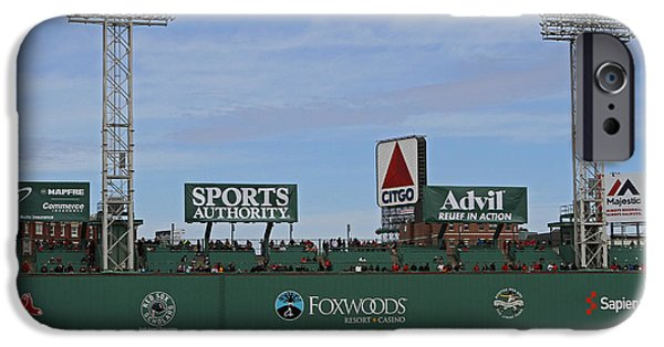 Fenway Park iPhone Cases - Boston Fenway Park Green Monster iPhone Case by Juergen Roth