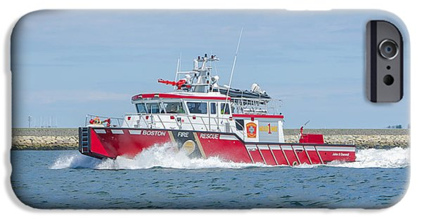 Recently Sold -  - Boston Ma iPhone Cases - Boston Fire Marine 1 iPhone Case by Brian MacLean