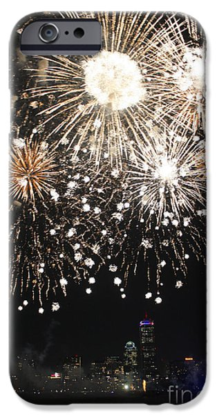 Charles River iPhone Cases - Boston Fireworks iPhone Case by Christina Gupfinger