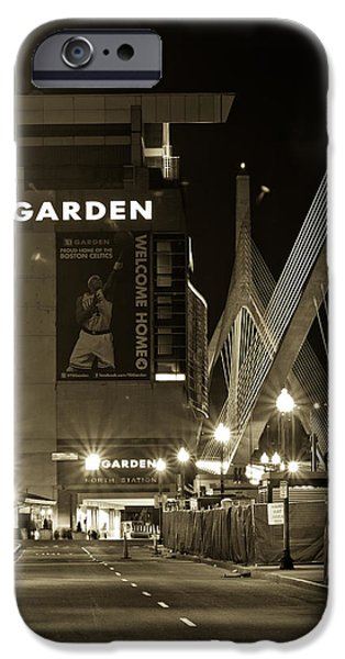 City. Boston iPhone Cases - Boston Garder and Side Street iPhone Case by John McGraw