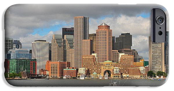 City. Boston iPhone Cases - Boston Harbor  iPhone Case by Catherine Reusch  Daley