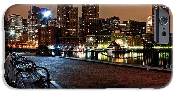 Tea Party iPhone Cases - Boston Harbor  iPhone Case by John McGraw