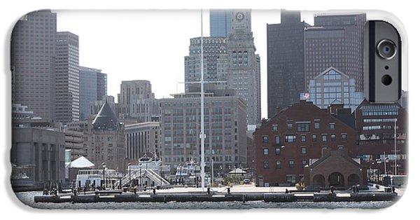 Boston iPhone Cases - Boston Harbor iPhone Case by John Telfer