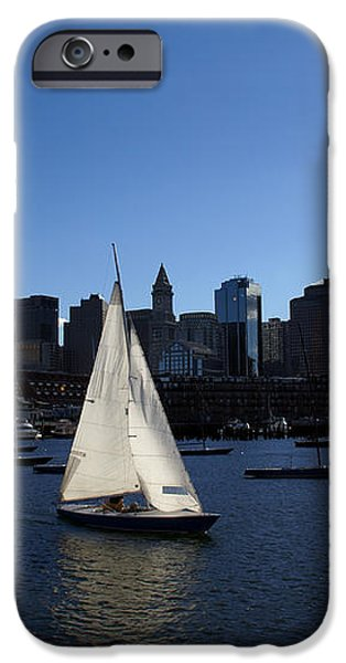 Boston Harbor iPhone Case by Olivier Le Queinec