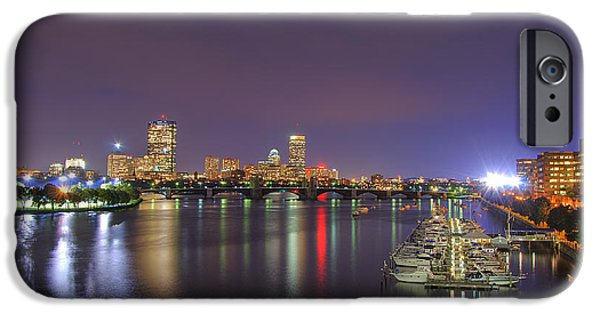 Boston Cityscape iPhone Cases - Boston Harbor Skyline iPhone Case by Joann Vitali