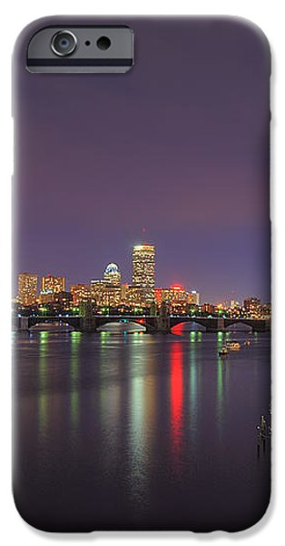Boston Harbor Skyline iPhone Case by Joann Vitali