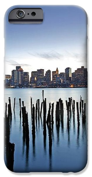 Boston Harbor Skyline with ICA iPhone Case by Juergen Roth