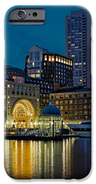 Boston iPhone Cases - Boston Harbor iPhone Case by Susan Candelario