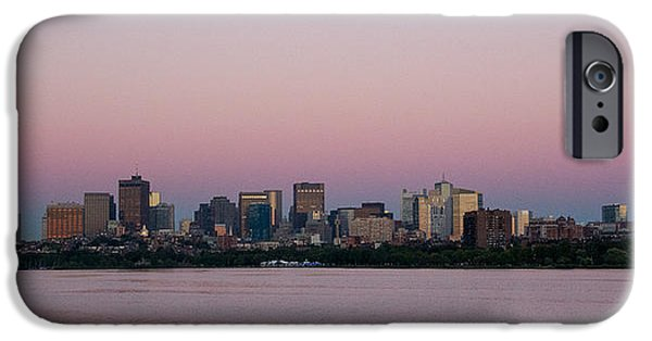 Boston iPhone Cases - Boston in Pink iPhone Case by Kathleen O