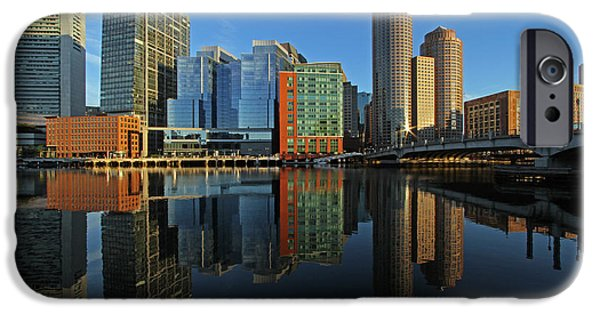 City. Boston iPhone Cases - Boston Intercontinental Hotel iPhone Case by Juergen Roth