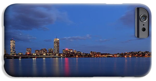 Charles River iPhone Cases - Boston Landmarks and Cisco Sign iPhone Case by Juergen Roth