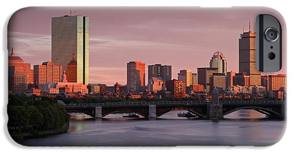 Charles River iPhone Cases - Boston Last Light iPhone Case by Juergen Roth