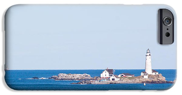 Boston Ma iPhone Cases - Boston Lighthouse iPhone Case by Nomad Art And  Design