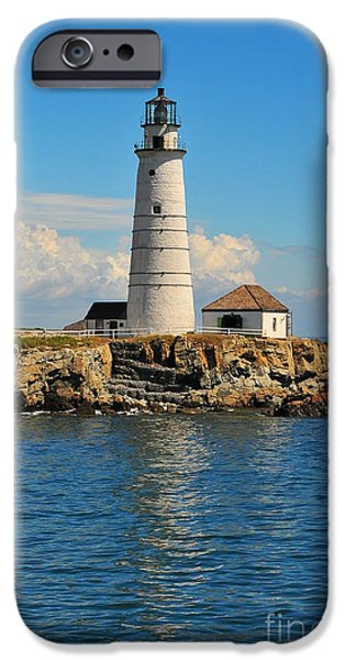 Boston Light iPhone Case by Catherine Reusch  Daley