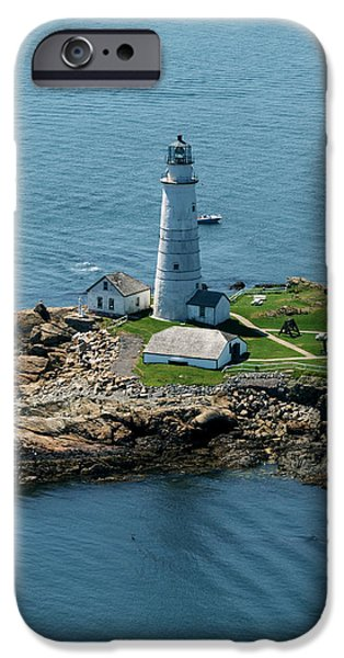 Massachusetts Coast iPhone Cases - Boston Light iPhone Case by Joshua House