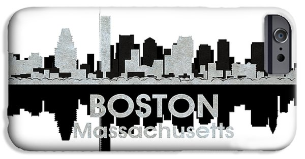 City. Boston iPhone Cases - Boston MA 4 iPhone Case by Angelina Vick