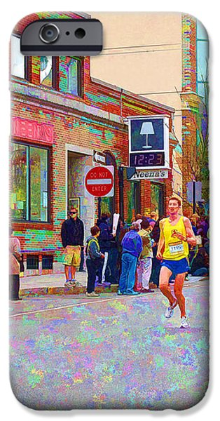Boston Marathon Mile Twenty Two iPhone Case by Barbara McDevitt