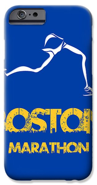 City. Boston iPhone Cases - Boston Marathon2 iPhone Case by Joe Hamilton