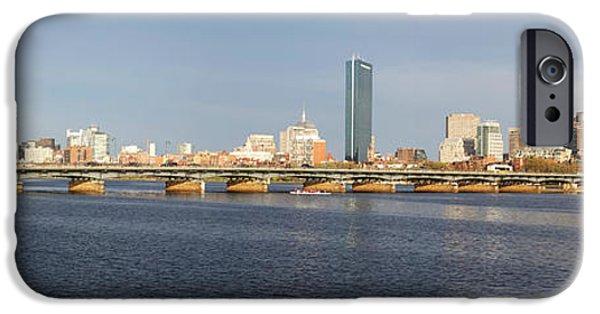 Charles Bridge Digital iPhone Cases - Boston Mass Ave Bridge Panorama iPhone Case by Toby McGuire
