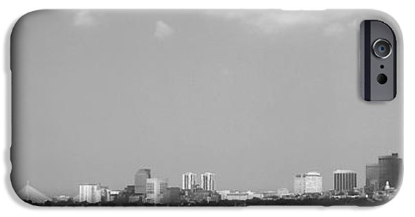 Boston Ma iPhone Cases - Boston Massachusetts Black and White iPhone Case by Andrea Anderegg