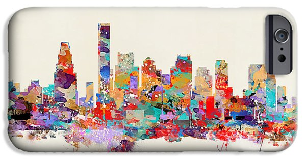 Recently Sold -  - City. Boston iPhone Cases - Boston Massachusetts Skyline iPhone Case by Bri Buckley