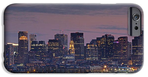 Financial Interest iPhone Cases - Boston Nights iPhone Case by Juergen Roth
