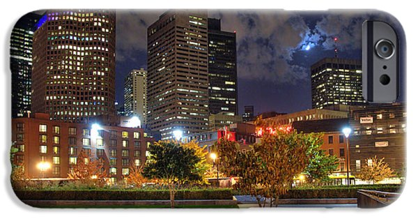 Boston Nightscape iPhone Cases - Boston Nights3 iPhone Case by Joann Vitali