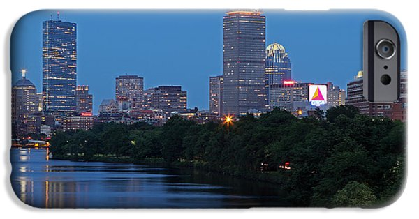 Recently Sold -  - Charles River iPhone Cases - Boston Nightscape iPhone Case by Juergen Roth