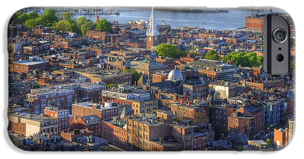 Recently Sold -  - Boston iPhone Cases - Boston North End Rooftops iPhone Case by Joann Vitali