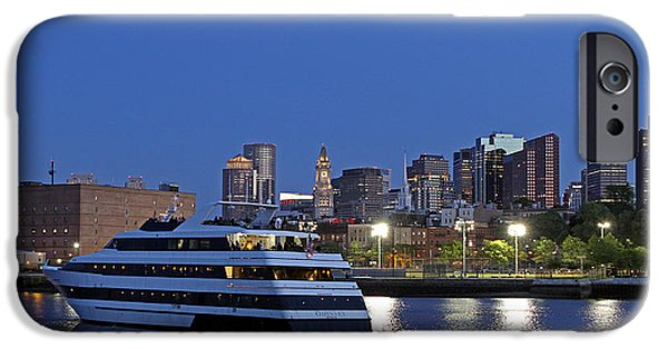 Boston Nightscape iPhone Cases - Boston Odyssey Cruise Ship iPhone Case by Juergen Roth