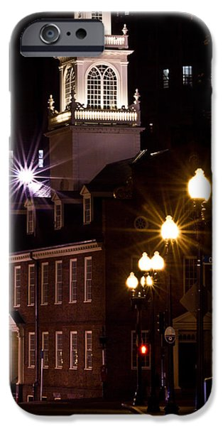 City. Boston iPhone Cases - Boston Old City Hall iPhone Case by John McGraw
