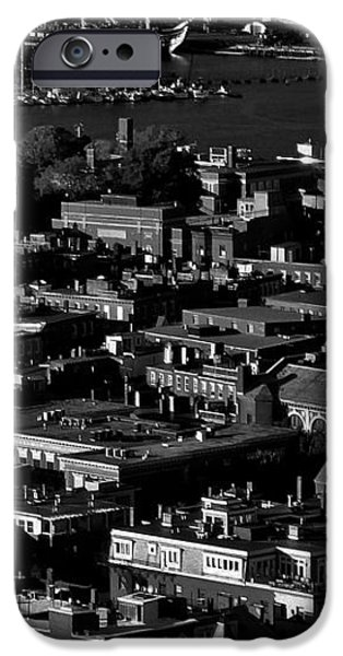 Boston Old North Church Black And White iPhone Case by Benjamin Yeager