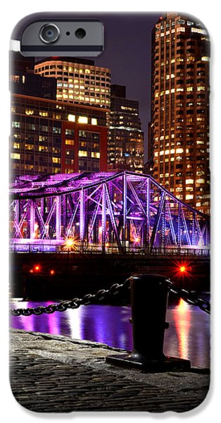 Oxford. Oxford Ma. Massachusetts iPhone Cases - Boston Old Northern Avenue Bridge Illuminated iPhone Case by Toby McGuire