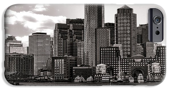Boston Cityscape iPhone Cases - Boston iPhone Case by Olivier Le Queinec