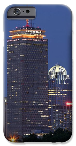 Hockey Scenes iPhone Cases - Boston Prudential Tower iPhone Case by Juergen Roth