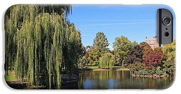 Boston Ma iPhone Cases - Boston Public Garden 2 iPhone Case by Michael Saunders