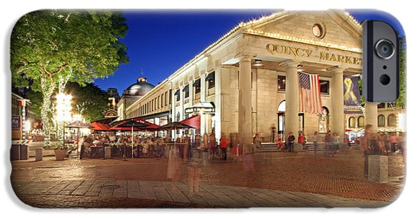Boston iPhone Cases - Boston Quincy Market near Faneuil Hall iPhone Case by Juergen Roth