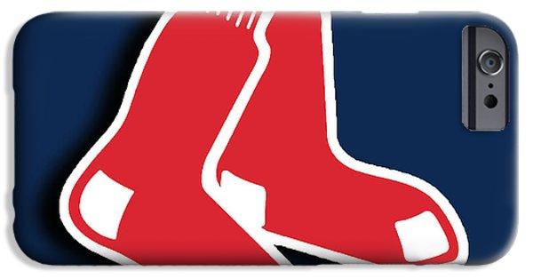 Boston Ma iPhone Cases - Boston Red Socks iPhone Case by Tony Rubino
