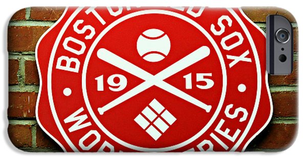 Boston Red Sox iPhone Cases - Boston Red Sox 1915 World Champions iPhone Case by Stephen Stookey