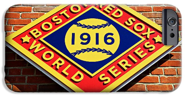 Bosox iPhone Cases - Boston Red Sox 1916 World Champions iPhone Case by Stephen Stookey