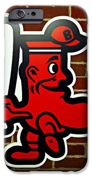 Bosox iPhone Cases - Boston Red Sox 1950s Logo iPhone Case by Stephen Stookey