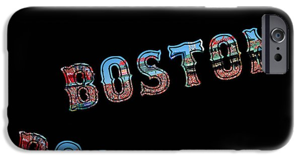 Boston Red Sox iPhone Cases - Boston Red Sox Duvet iPhone Case by Joann Vitali