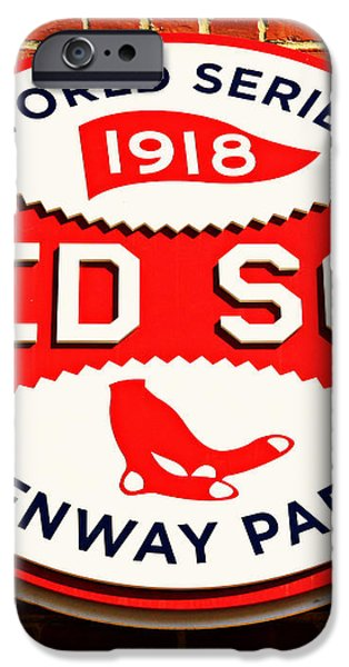 Boston Red Sox World Series Champions 1918 iPhone Case by Stephen Stookey