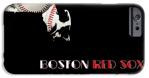 Red Sox Mixed Media iPhone Cases - Boston Red Sox World Series Champions 2013 iPhone Case by Andee Design