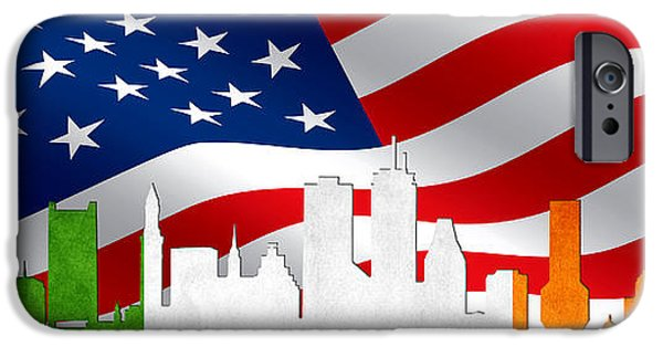 Boston iPhone Cases - Boston Skyline 3 iPhone Case by Andrew Fare