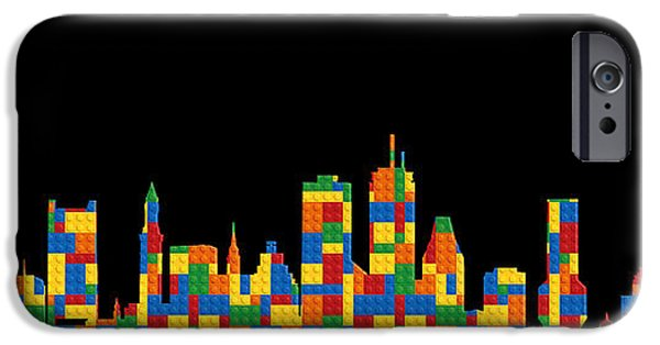 Boston iPhone Cases - Boston Skyline 4 iPhone Case by Andrew Fare