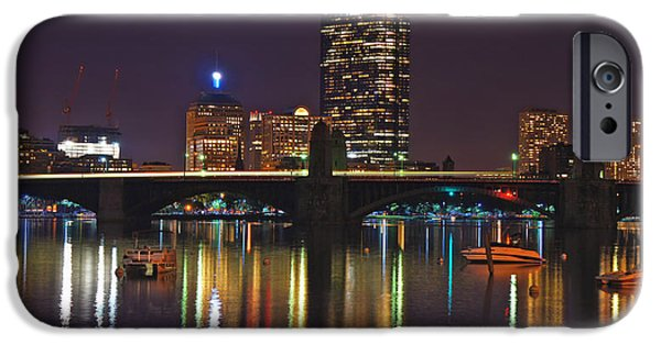 Charles River iPhone Cases - Boston Skyline 6 iPhone Case by Joann Vitali