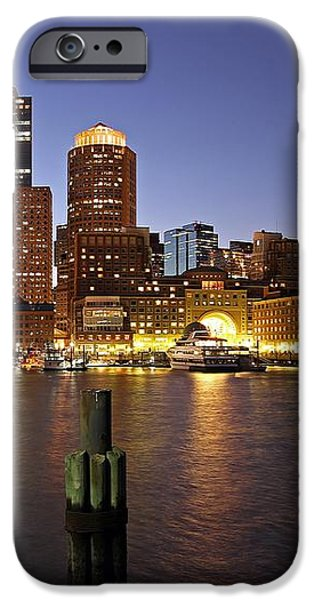 Boston Skyline and Fan Pier iPhone Case by Juergen Roth