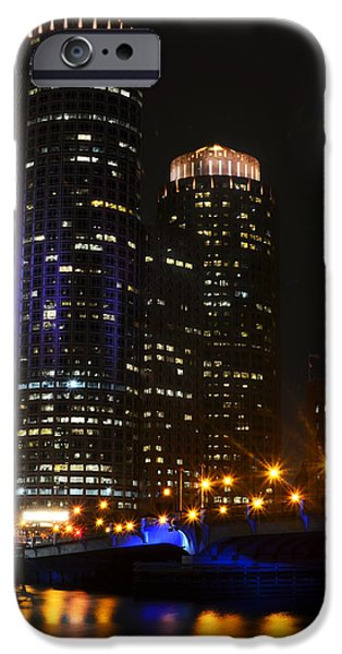 Boston Ma iPhone Cases - Boston Skyline at Night iPhone Case by Toby McGuire