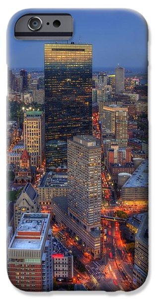 City. Boston iPhone Cases - Boston Skyline Back Bay Reflections iPhone Case by Joann Vitali